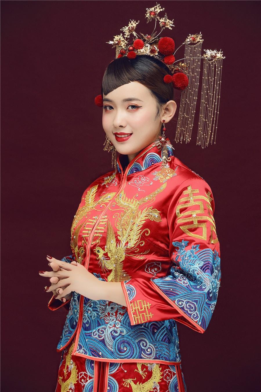 中式复古新娘造型